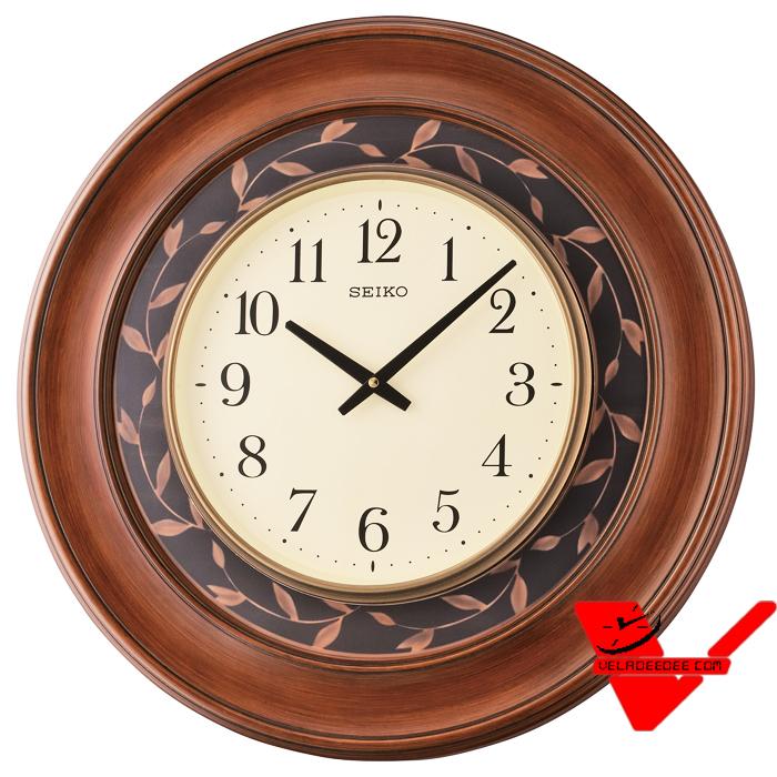 Seiko นาฬิกาแขวนขนาดใหญ่ ขนาด 57 ซม. (ขอบลายไม้)  รุ่น QXA646B