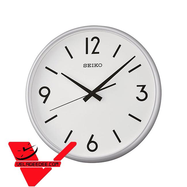 Seiko นาฬิกาแขวนเครื่องเดินเรียบไร้เสียงรบกวน ขนาดใหญ่ แนววินเทจ รุ่น QXA677A
