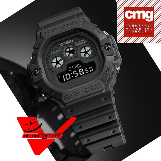 Casio G-shock รุ่นสีพิเศษ  นาฬิกาข้อมือชาย  สายเรซิ่น (ประกัน CMG ศูนย์เซ็นทรัล 1 ปี) รุ่น DW-5900BB-1DR