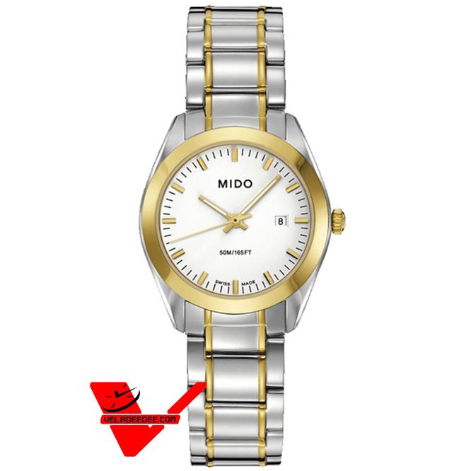 MIDO Madison Gent นาฬิกาผู้หญิง รุ่น M012.210.22.011.00 ตัวเรือนและสายทำจากสแตนเลสสองกษัตริย์