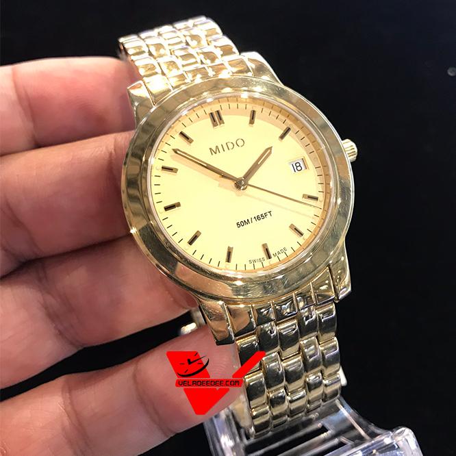 MIDO ประกันศูนย์ไทยศรีทองพาณิชย์ 2 ปี นาฬิกาควอตซ์ นาฬิกาข้อมือ รุ่น M2966.3.12.1