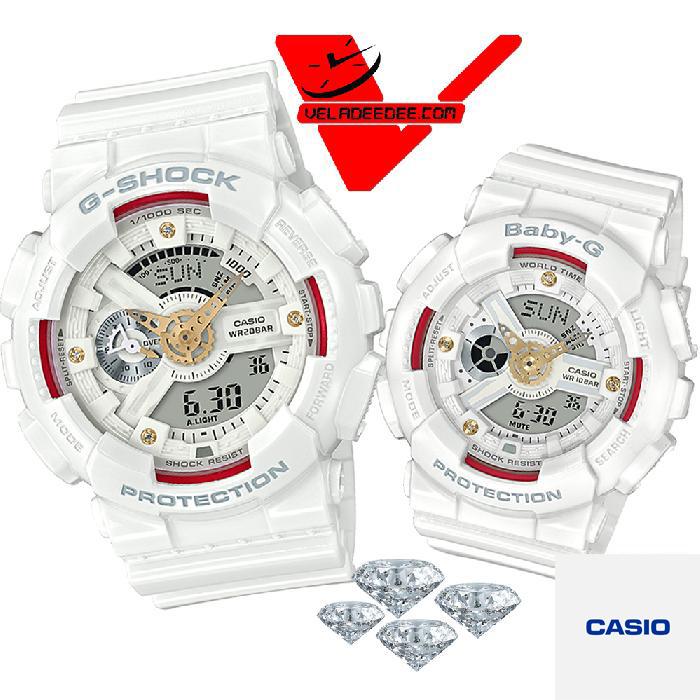 casio G-SHOCK GA-110DDR-7A and BABY-G BA-110DDR-7A  DIAMOND นาฬิกาคู่