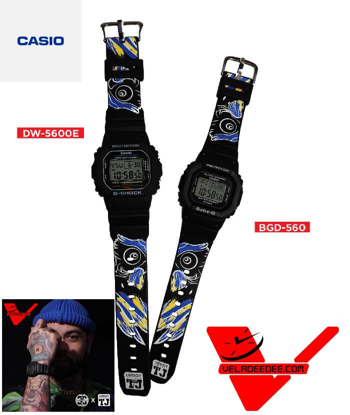 Casio G-Shock  X BABY-G Urboy TJ THE OWL  Limited Edition (พร้อมเสื้อลายที่ออกแบบโดย Urboy TJ) รุ่น DW-5600 X Bgd-560 Limited Edition Thailand