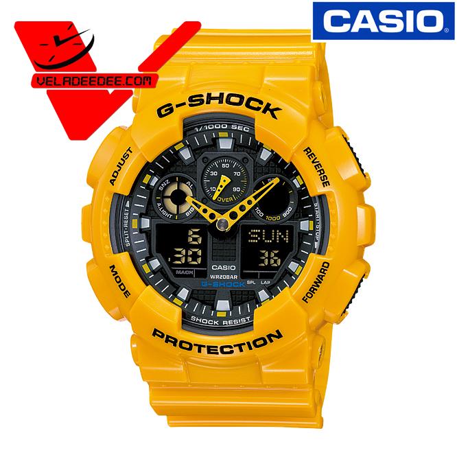 นาฬิกา CASIO G-SHOCK  (คาสิโอ จี ช็อค) GA-100A-9ADR (ประกัน CMG ศูนย์เซ็นทรัล1ปี)  *