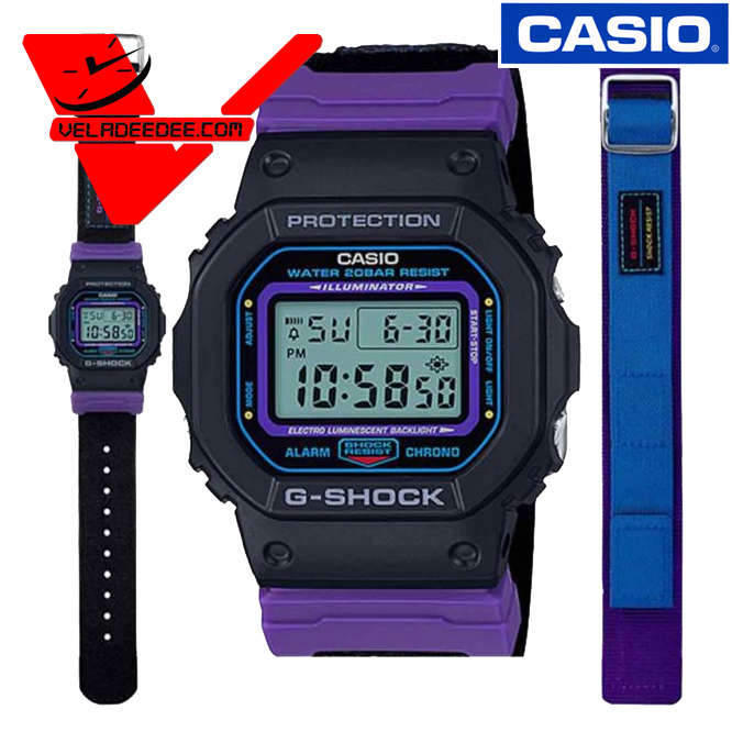 CASIO G-SHOCK DW-5600THS-1 แถมสาย 1เส้น (ประกัน CMG 1 ปี) นาฬิกาข้อมือชาย สายเรซิ่น รุ่น DW-5600THS-1DR veladeedee