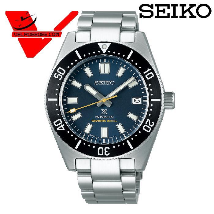 SEIKO Prospex 55th Anniversary Automatic Divers Watch Limited Edition55th Anniversary 1965 Diver's นาฬิกาข้อมือผู้ชาย สายสแตนเลส รุ่น SPB149J1 SPB149J (หน้าปัดน้ำเงิน)