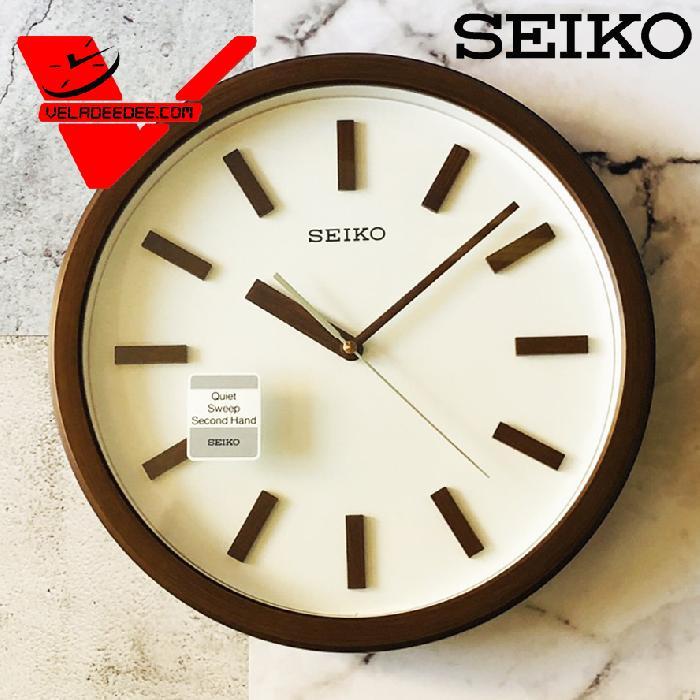 นาฬิกาแขวน SEIKO รุ่นQXA681แนวโมเดิล (เครื่องเดินเรียบ สุดหรู) ขนาด 13.5 นิ้ว QXA681B (ลายไม้สีน้ำตาล)
